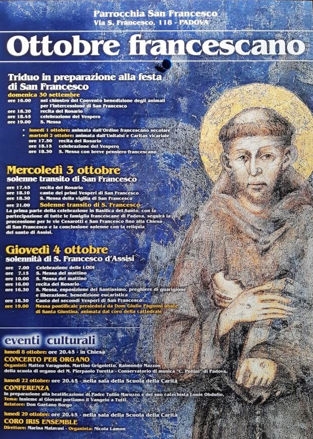 locandina ottobre francescano